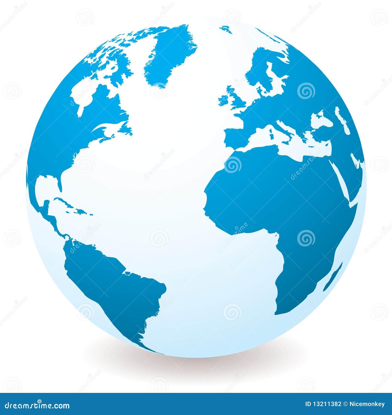 Blå jordklotlampa