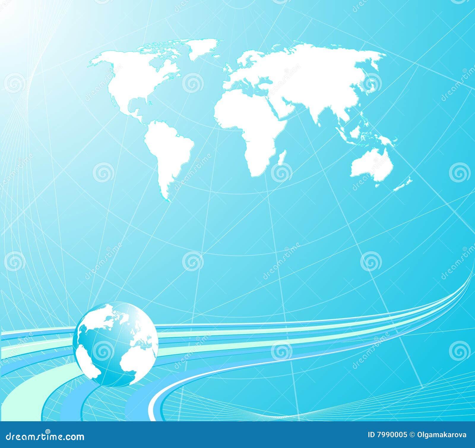 Blå jordklotlampa för bakgrund