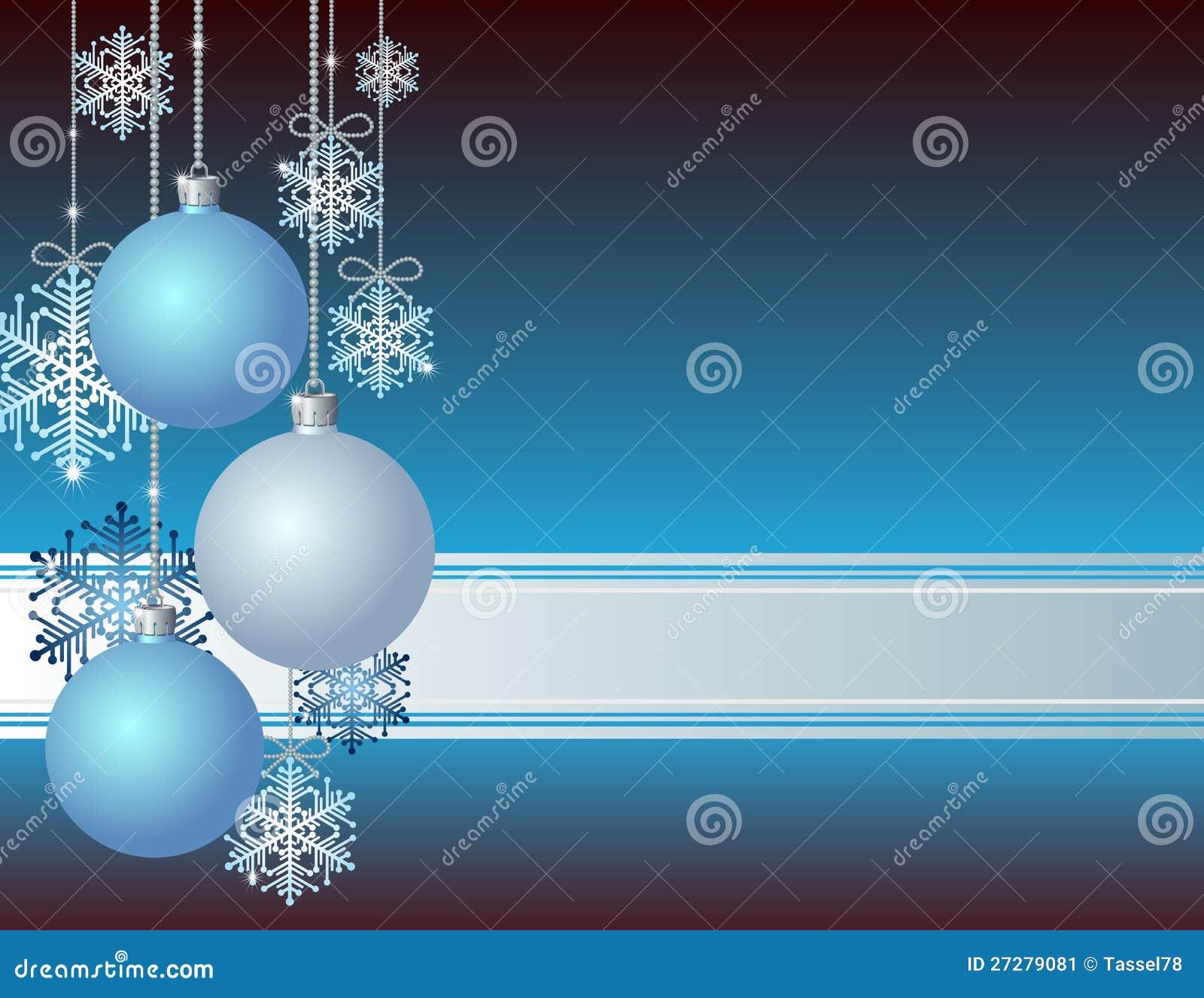 Blå julkort