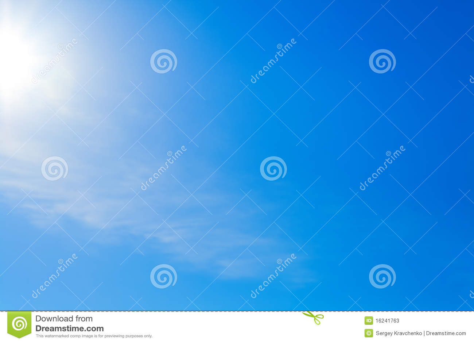 Blå klar sky