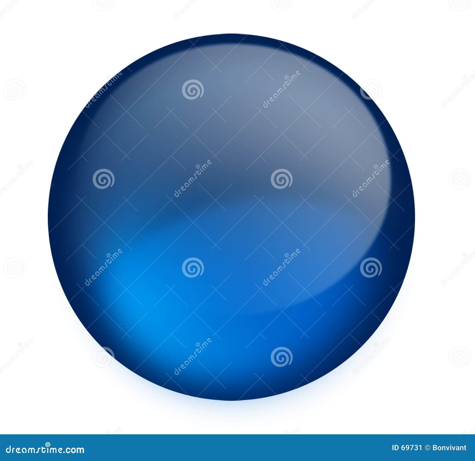 Blå knapp