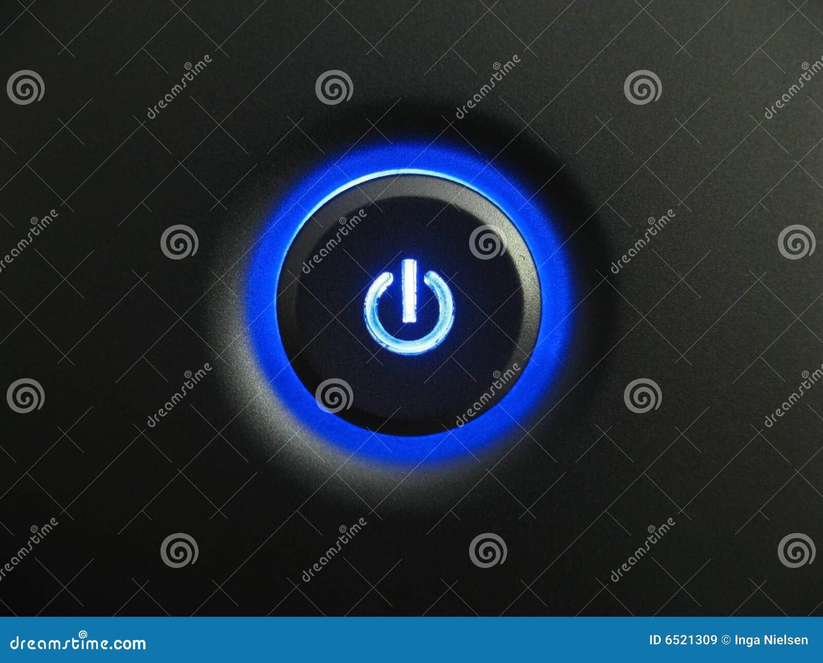 Blå knappström