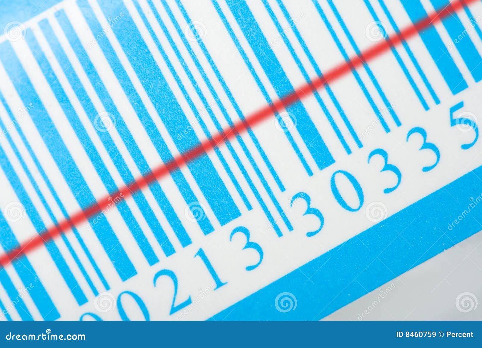 Blå laser-remsa för barcode