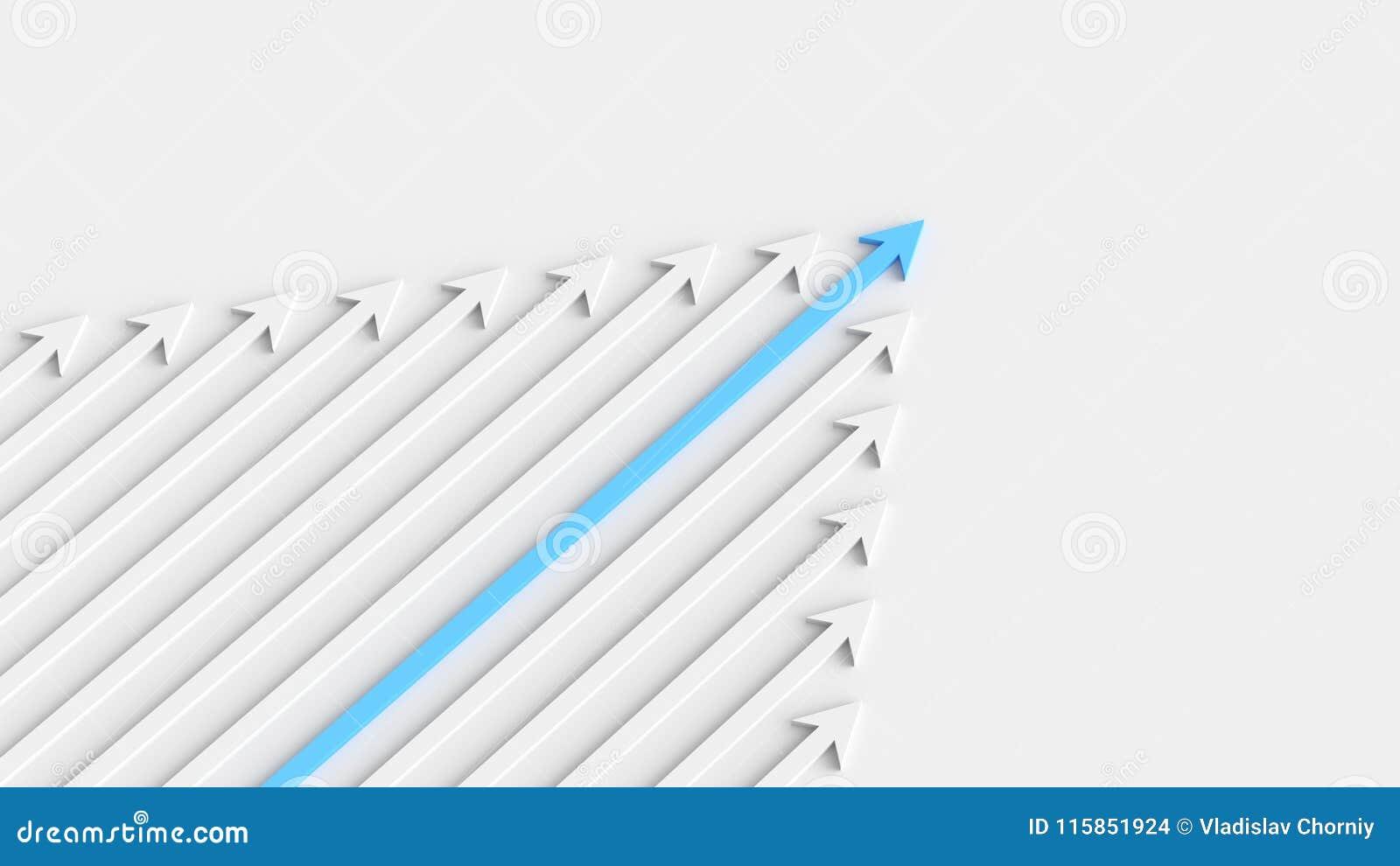 Blå ledarepil