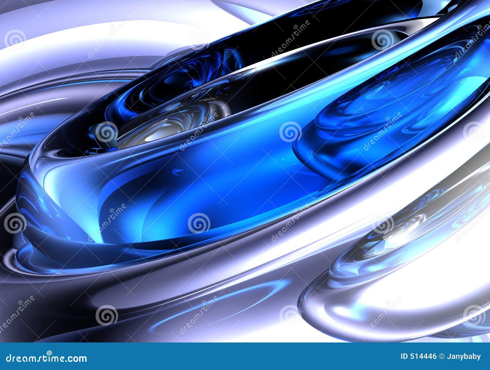 Blå metallsilver