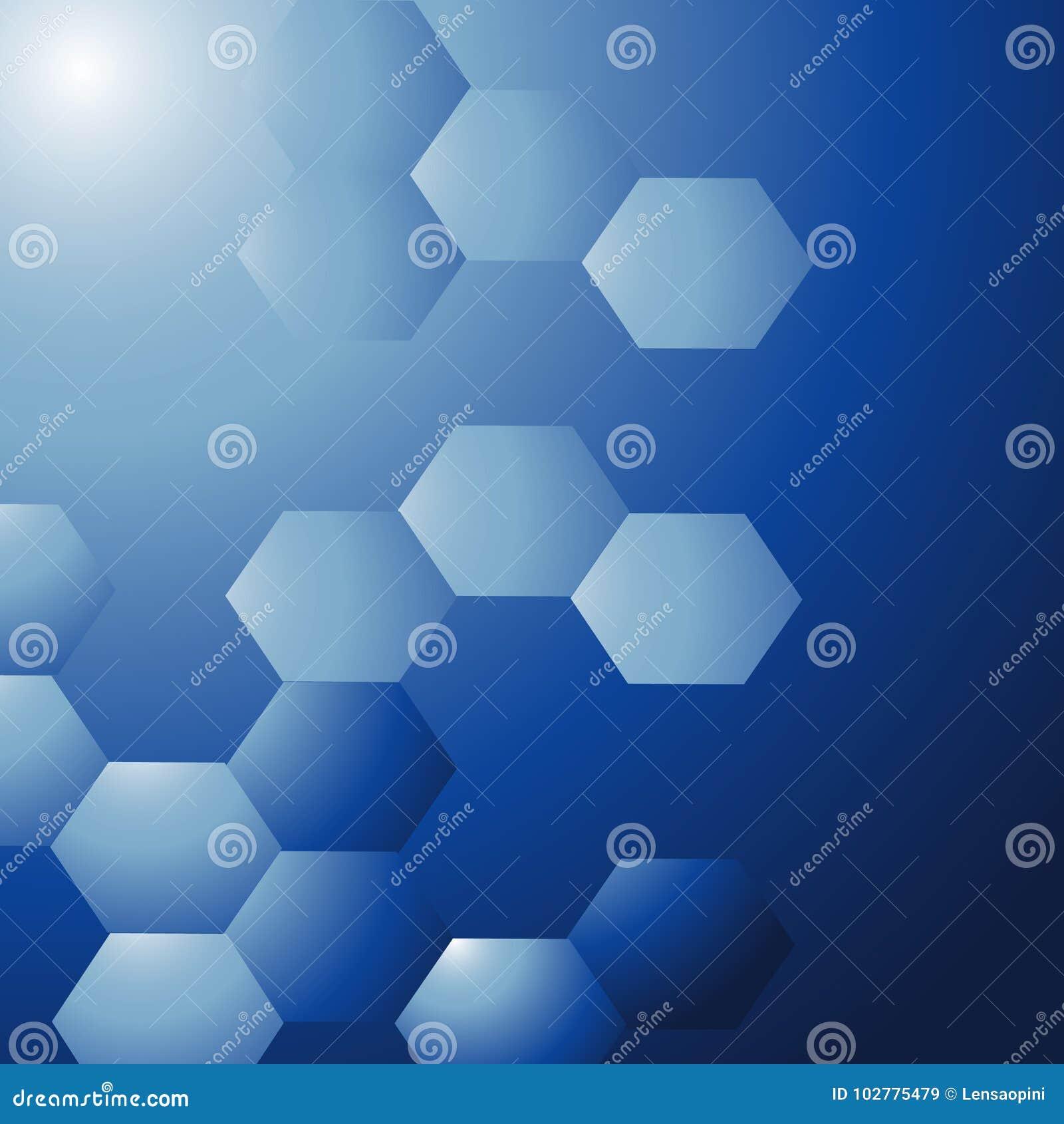 Blå modern abstrakt geometrisk vektor för design för broschyr för bakgrundsillustrationreklamblad