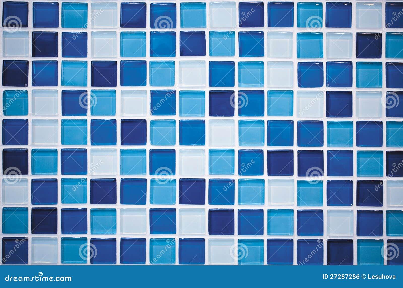 Blå mosaik