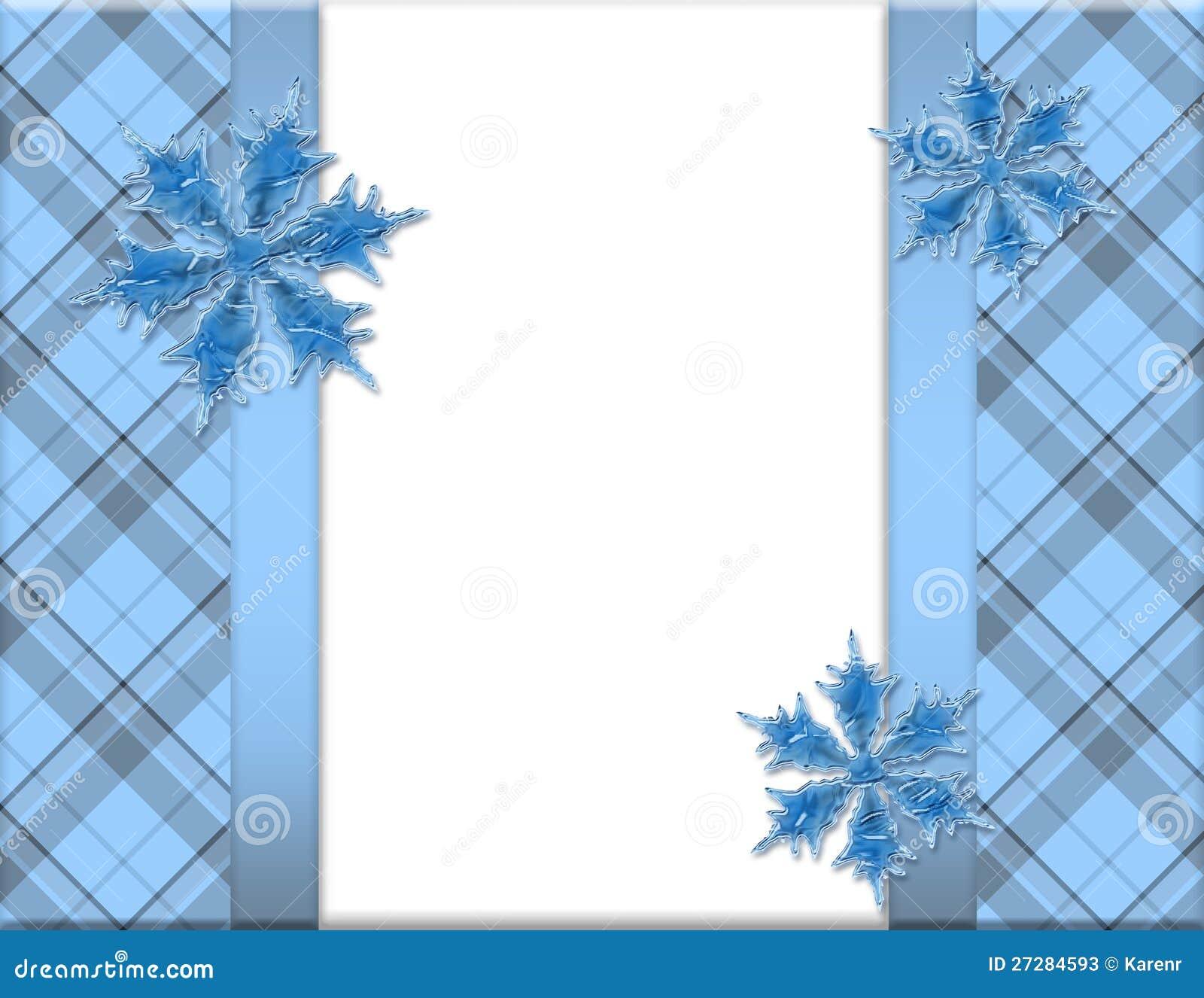 Blå och vit Snowflakeram