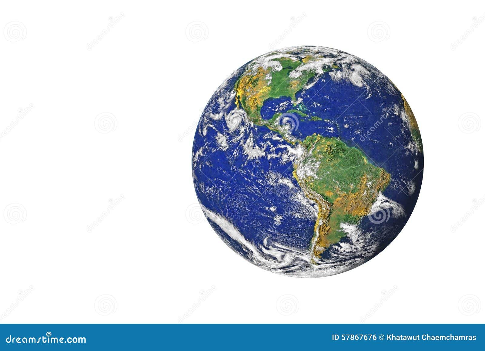 Blå planetjord från utrymmevisningnorden & Sydamerika, USA