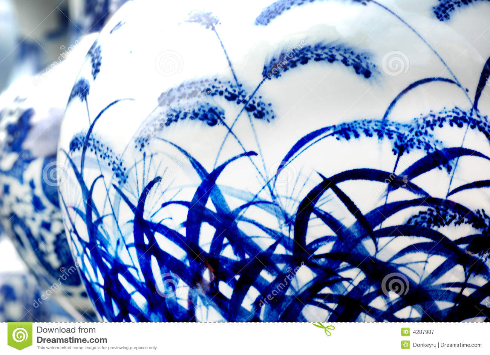 Blå porslinwhite