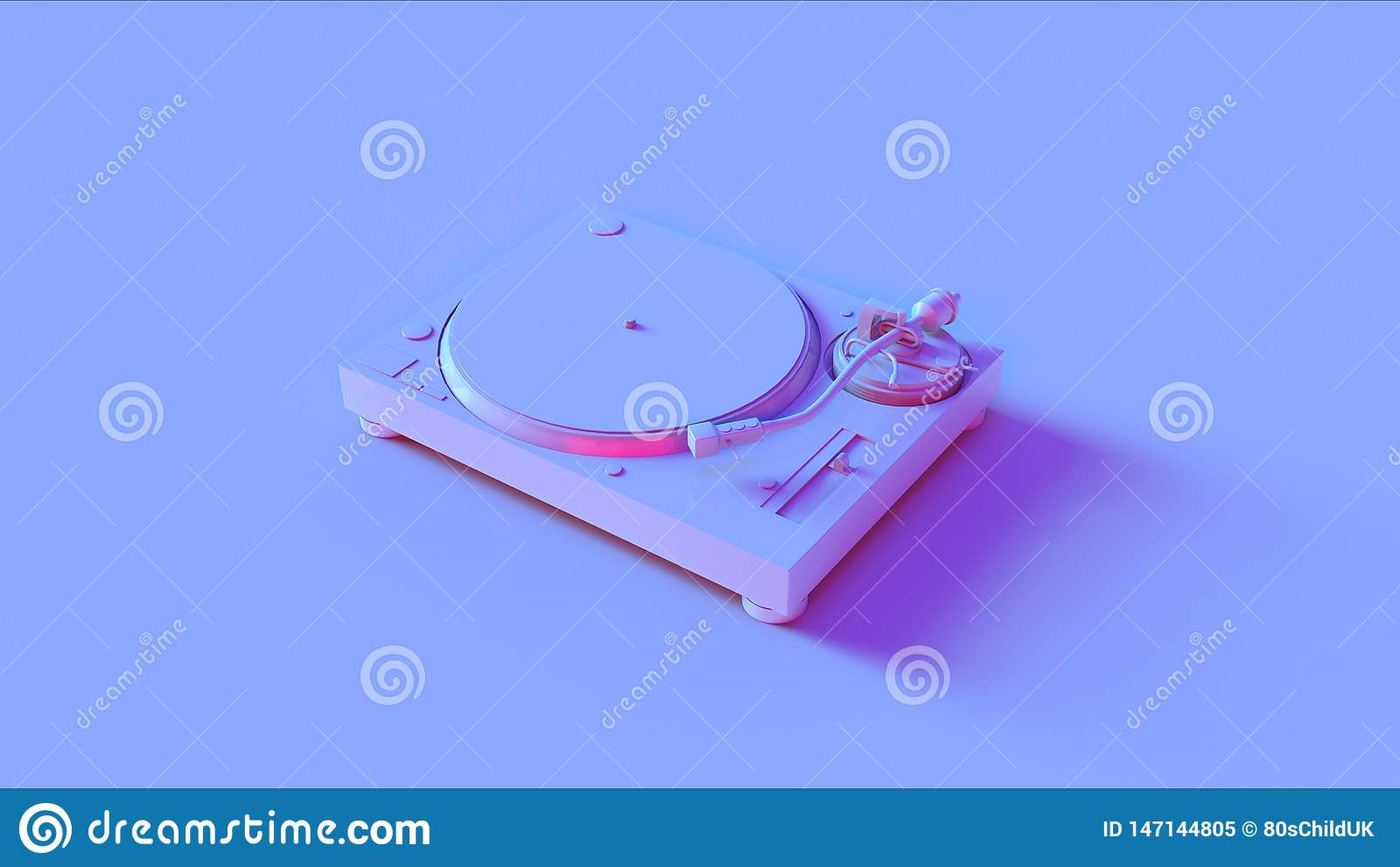 Blå rosa skivtallrikskivspelare