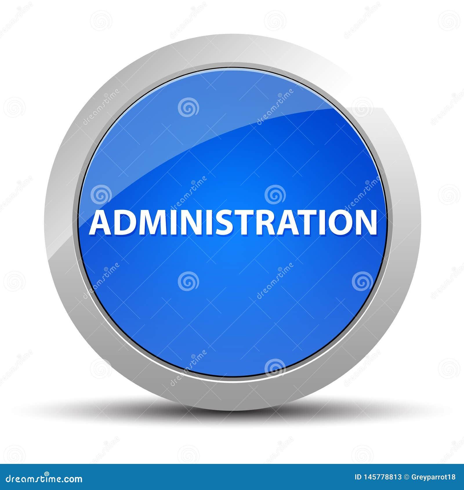 Blå rund knapp för administration