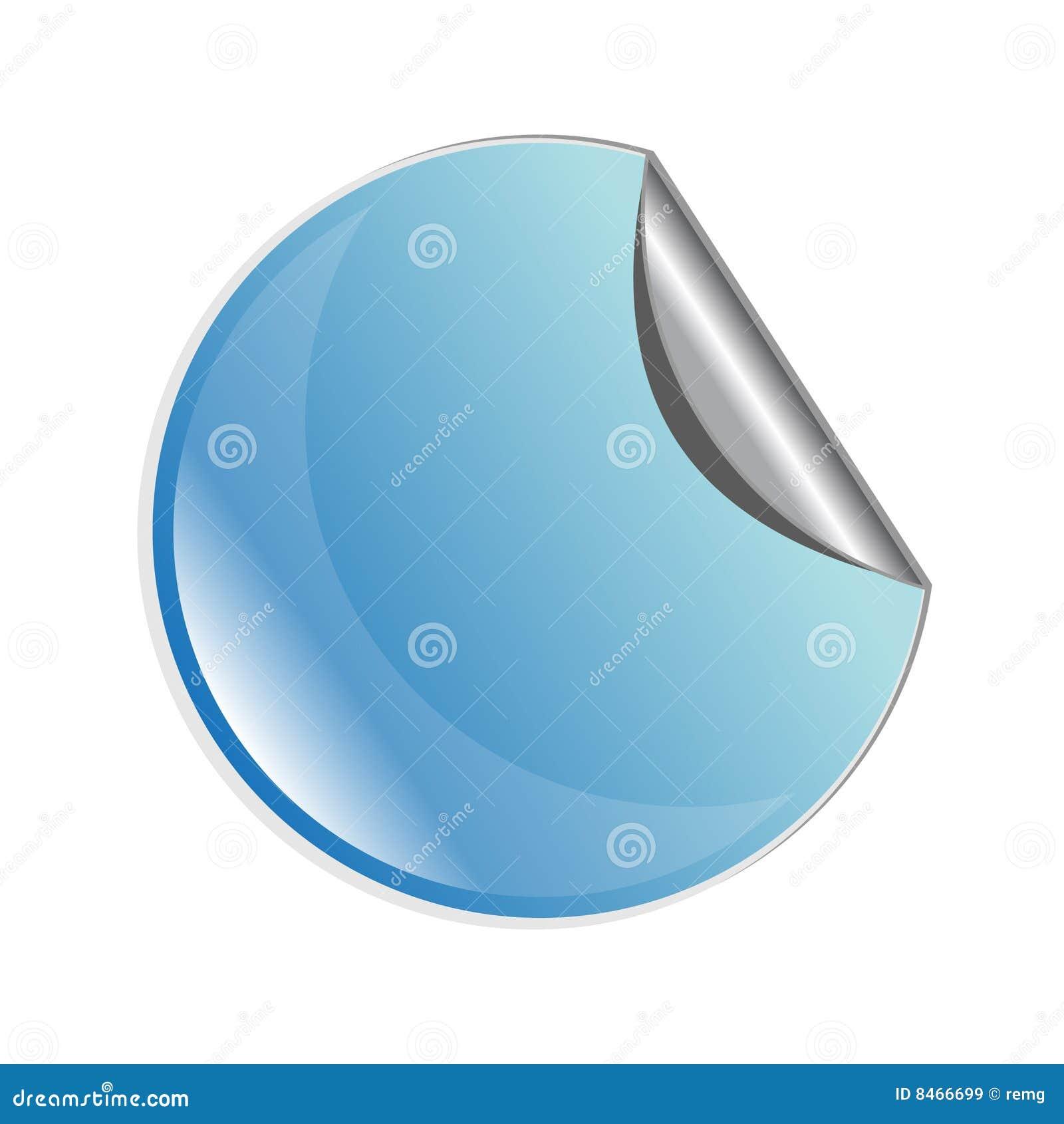 Blå skalningsetikett