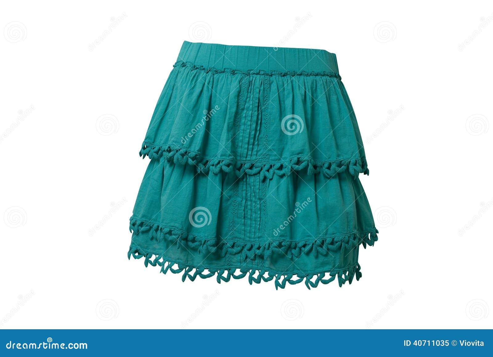 Blå skirt