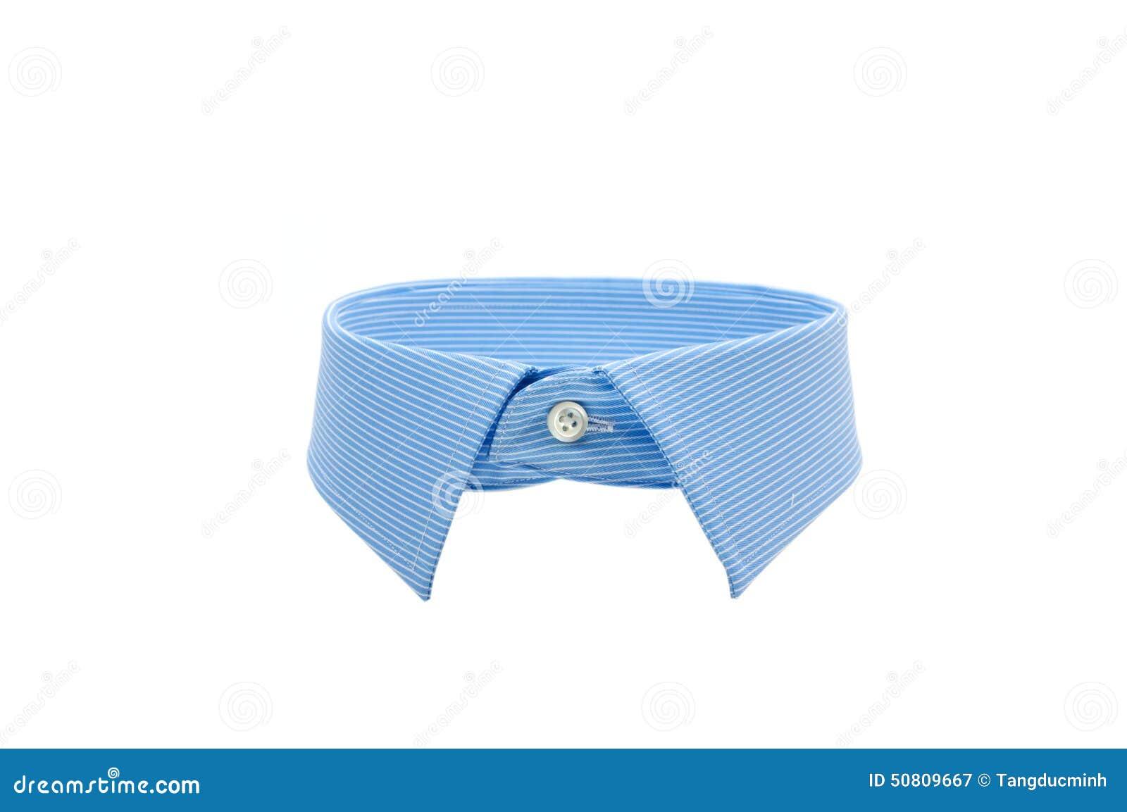 Blå skjortakrage