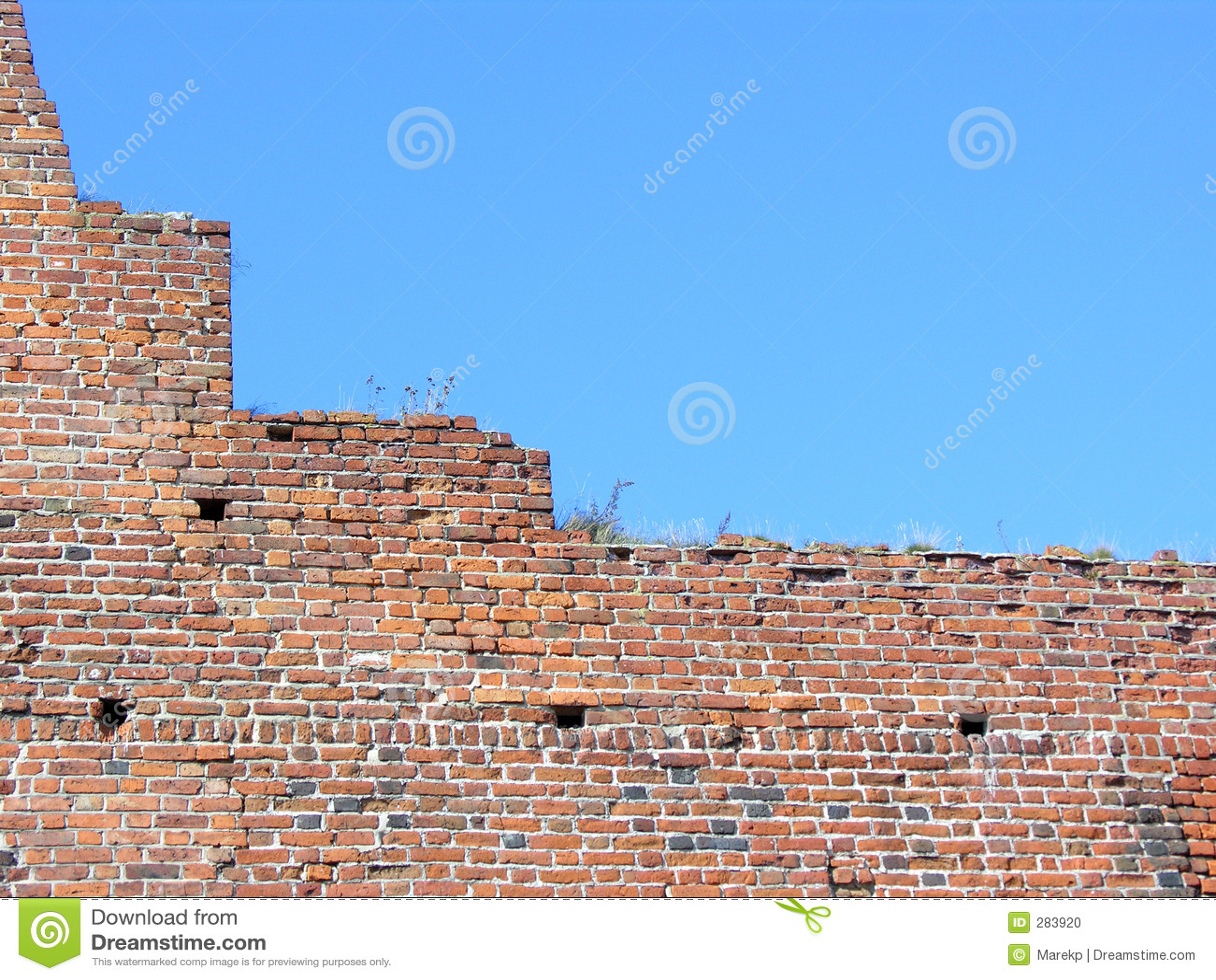 Blå slottskyvägg