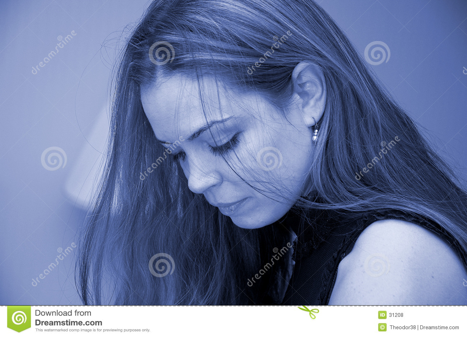 Blå ståendekvinna