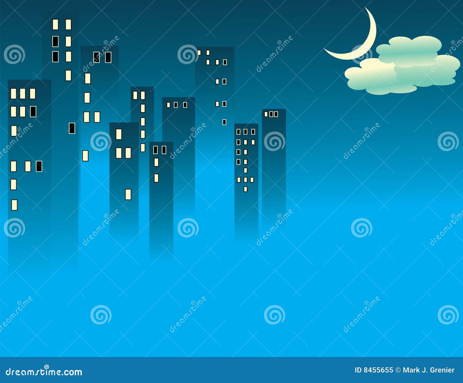 Blå stadsdimma