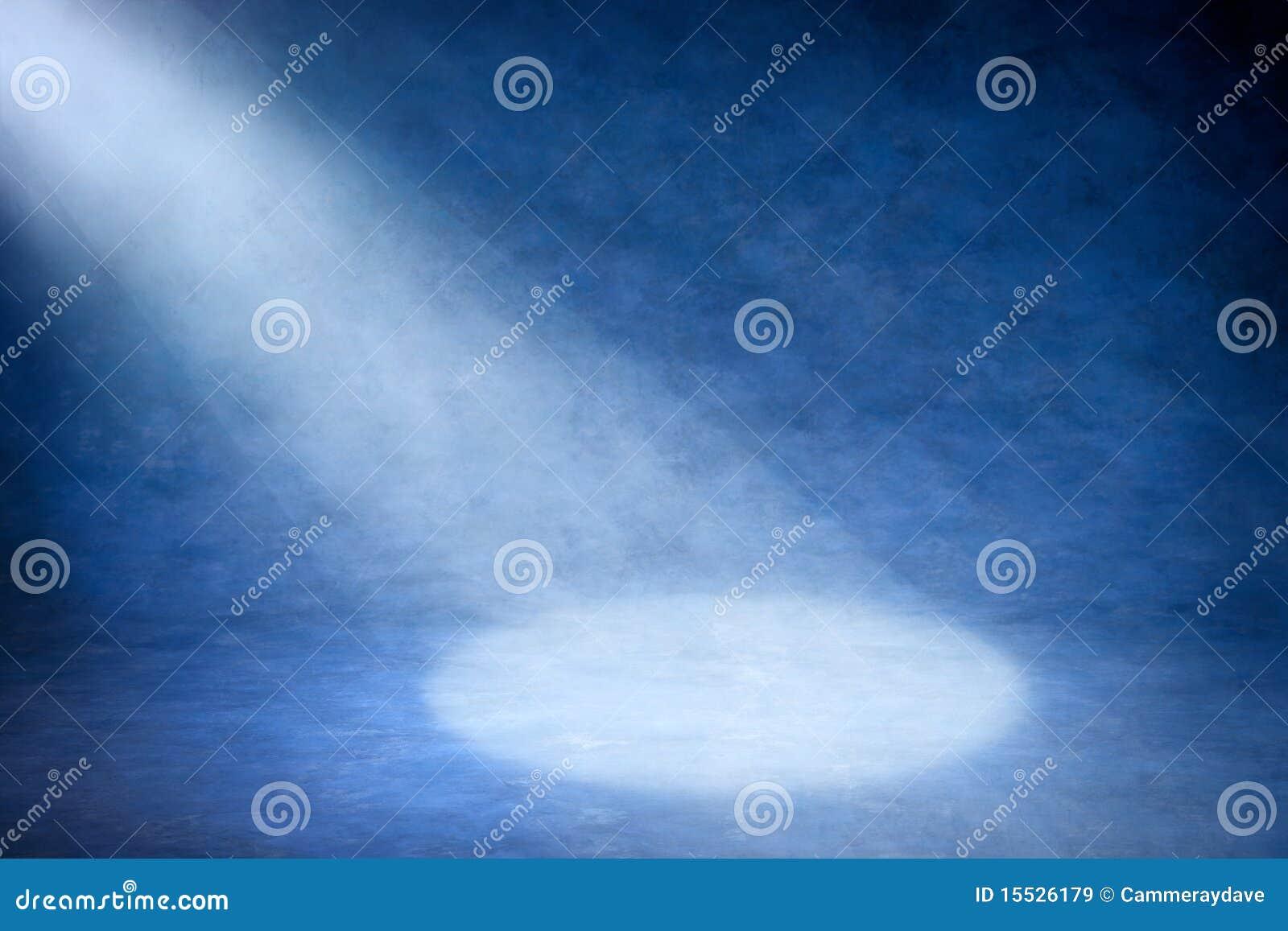 Blå strålkastare för abstrakt bakgrund