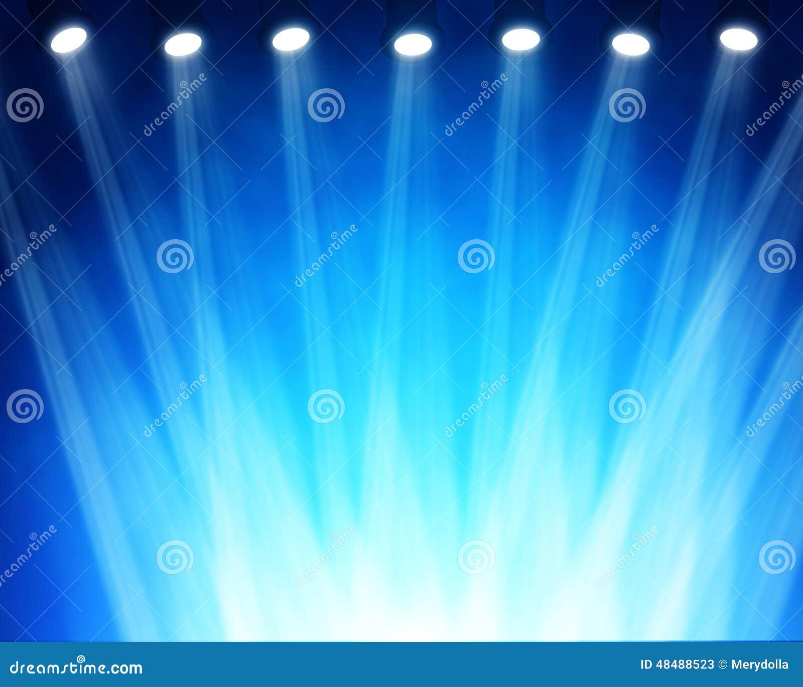 Blå strålkastareetapp