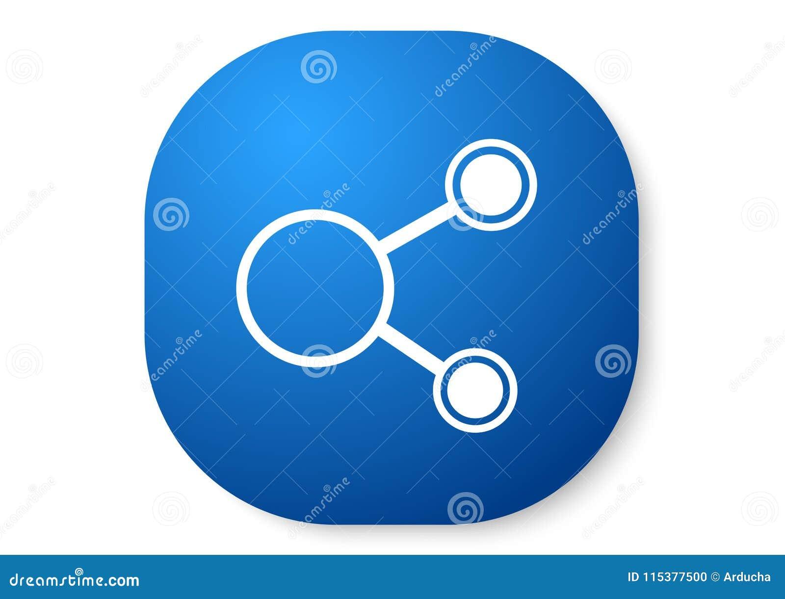 Blå symbol för aktie