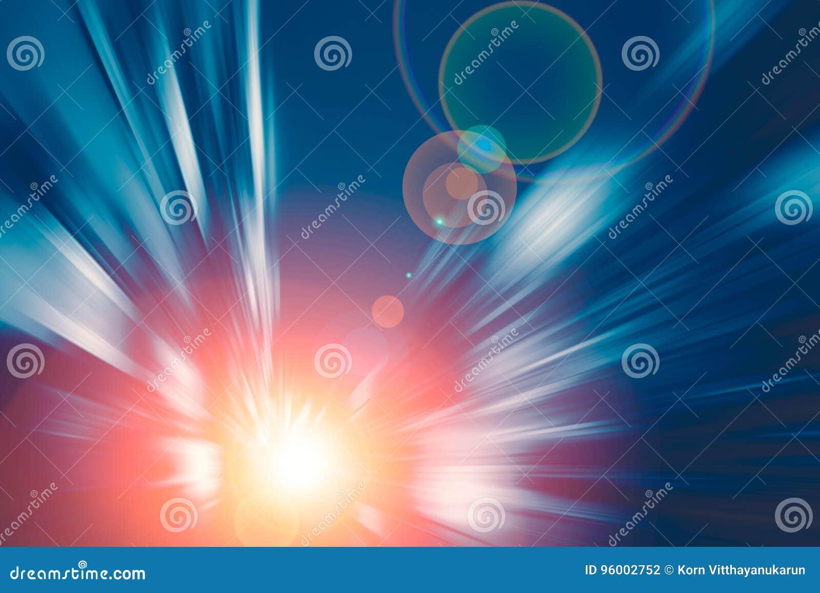 Blå Techsignal av suddighetsrörelse som flyttar goto snabb hastighet det framtida begreppet