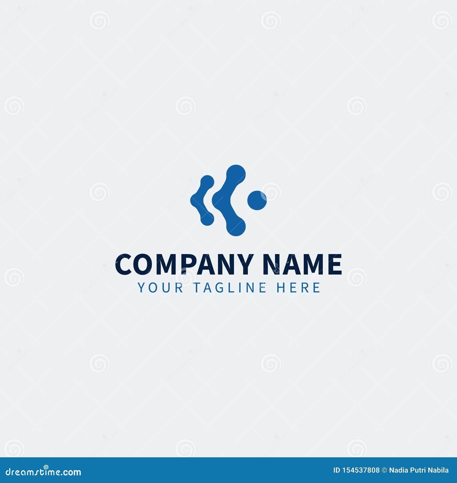 Blå teknologi DET Logo Editable för DET affär eller service
