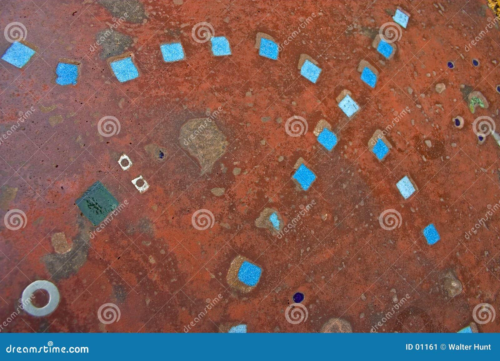 Blå texturtegelplatta
