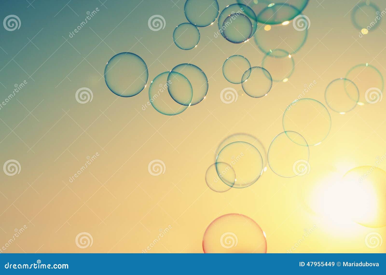 Blå tonality för bubblatvålstruktur