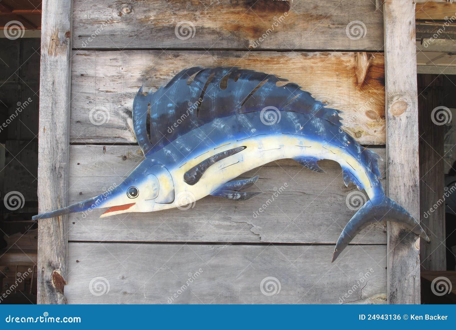 Blå vägg för fiskmarlinmodell