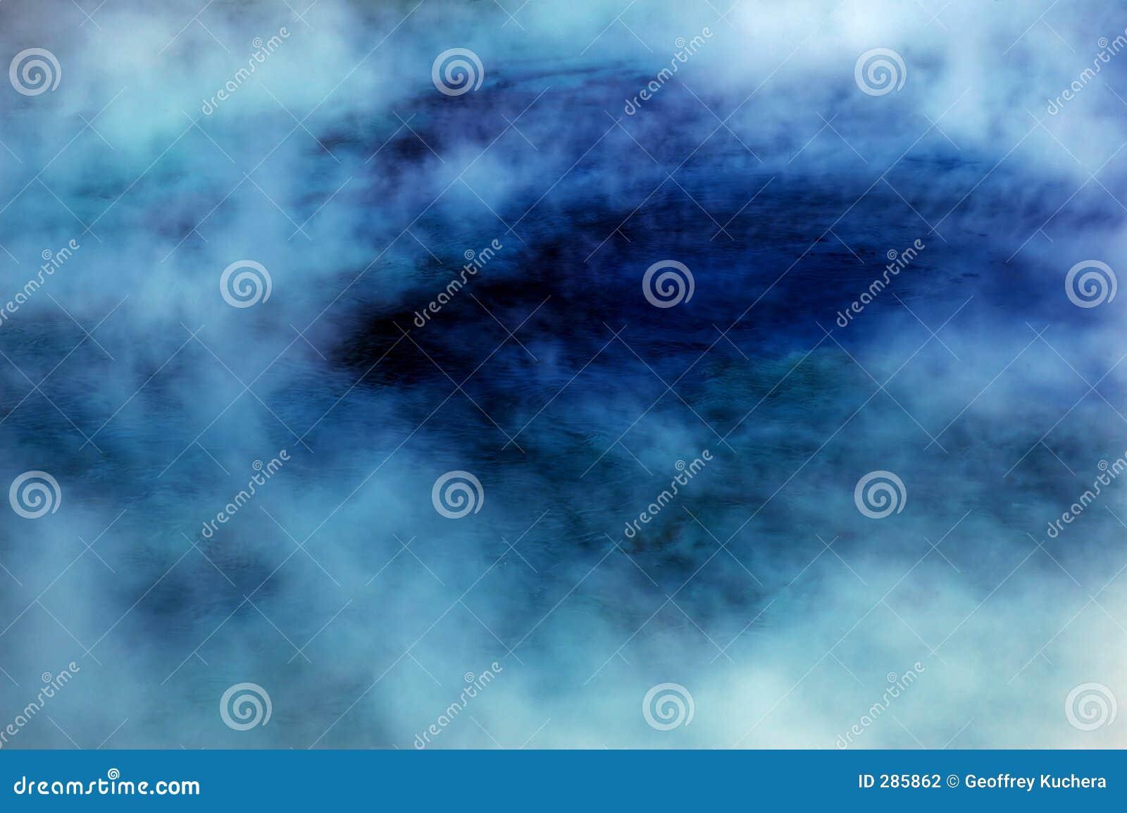 Blå varm pölfjäderånga