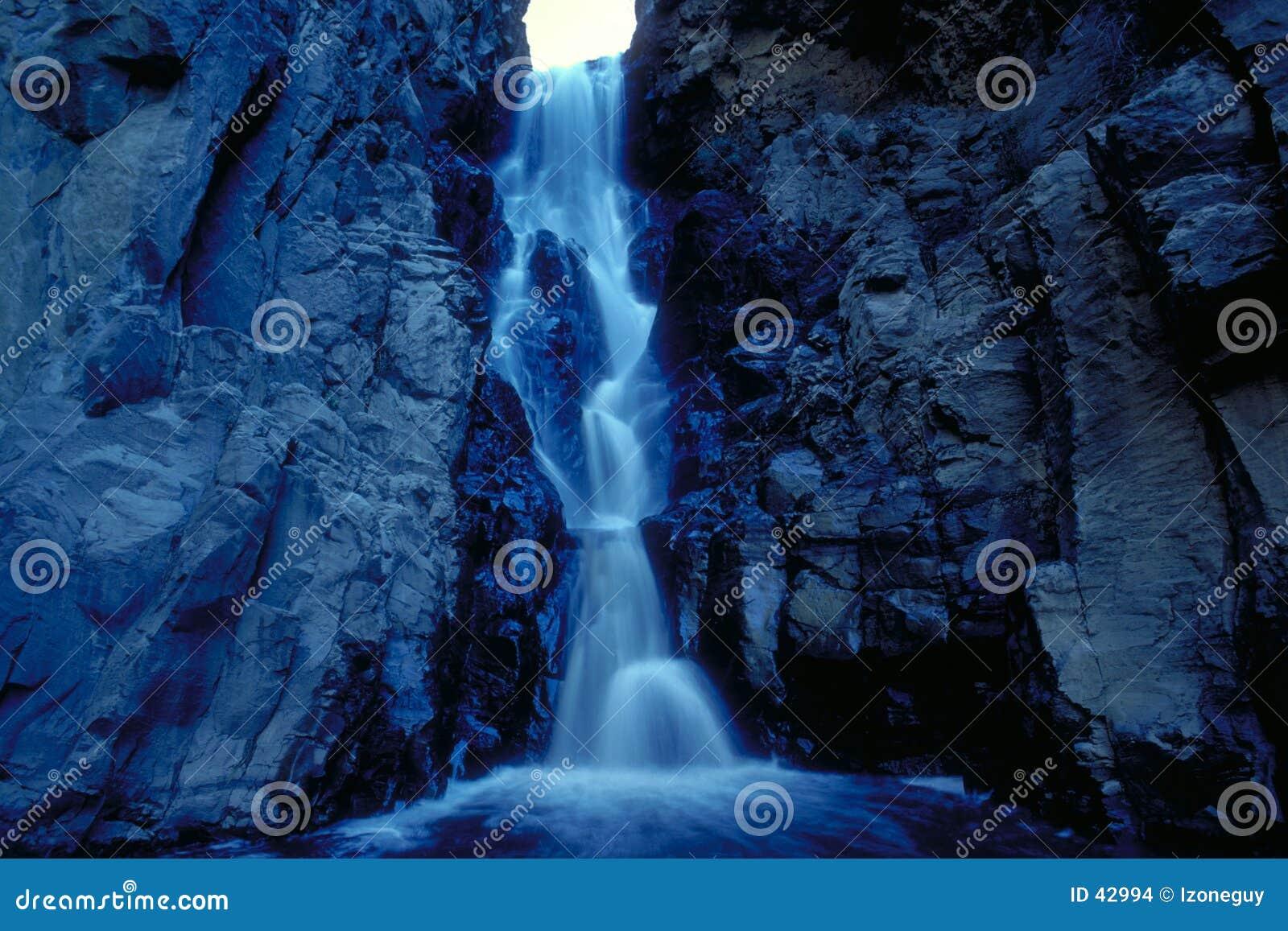 Blå vattenfall