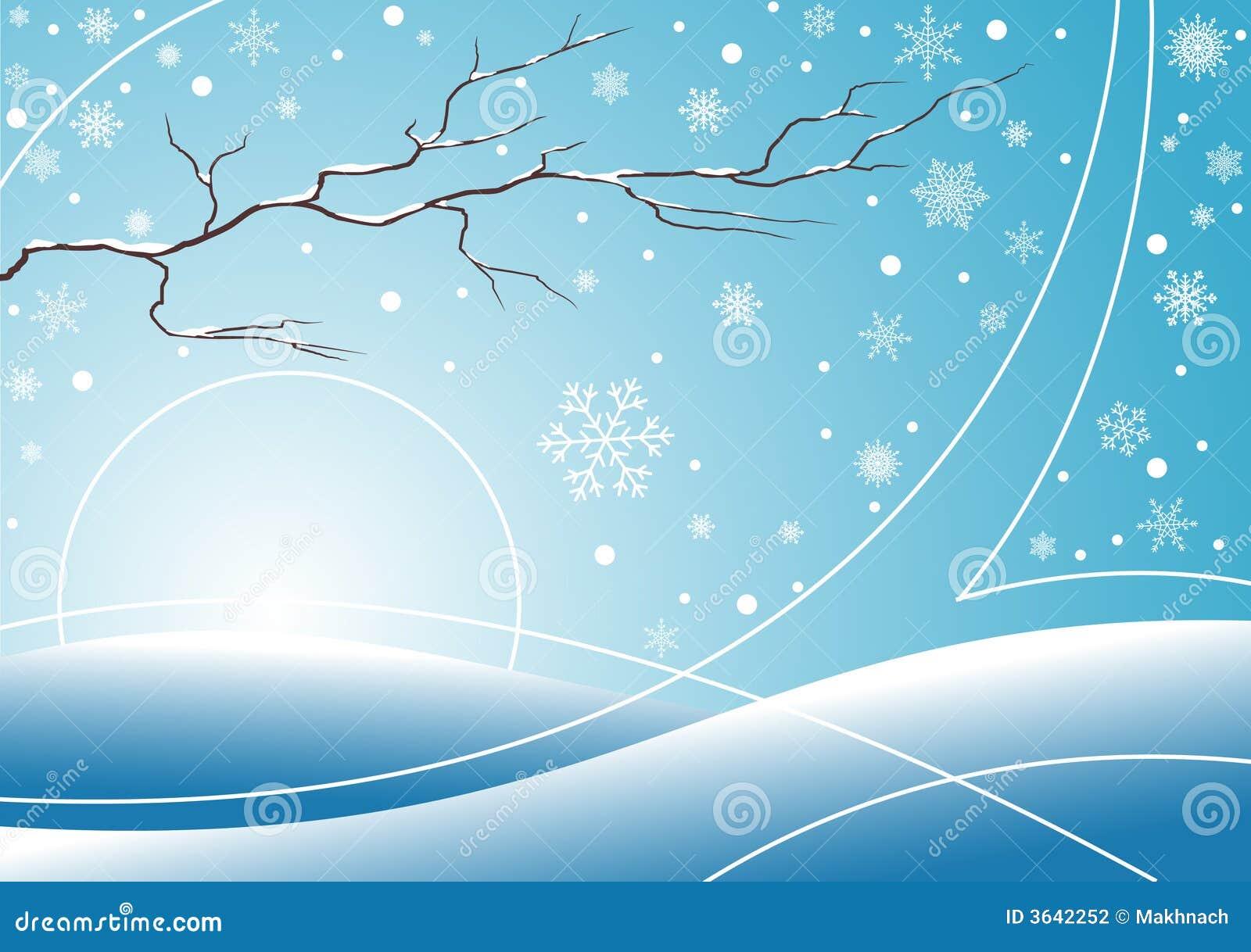 Blå vinter för bakgrund