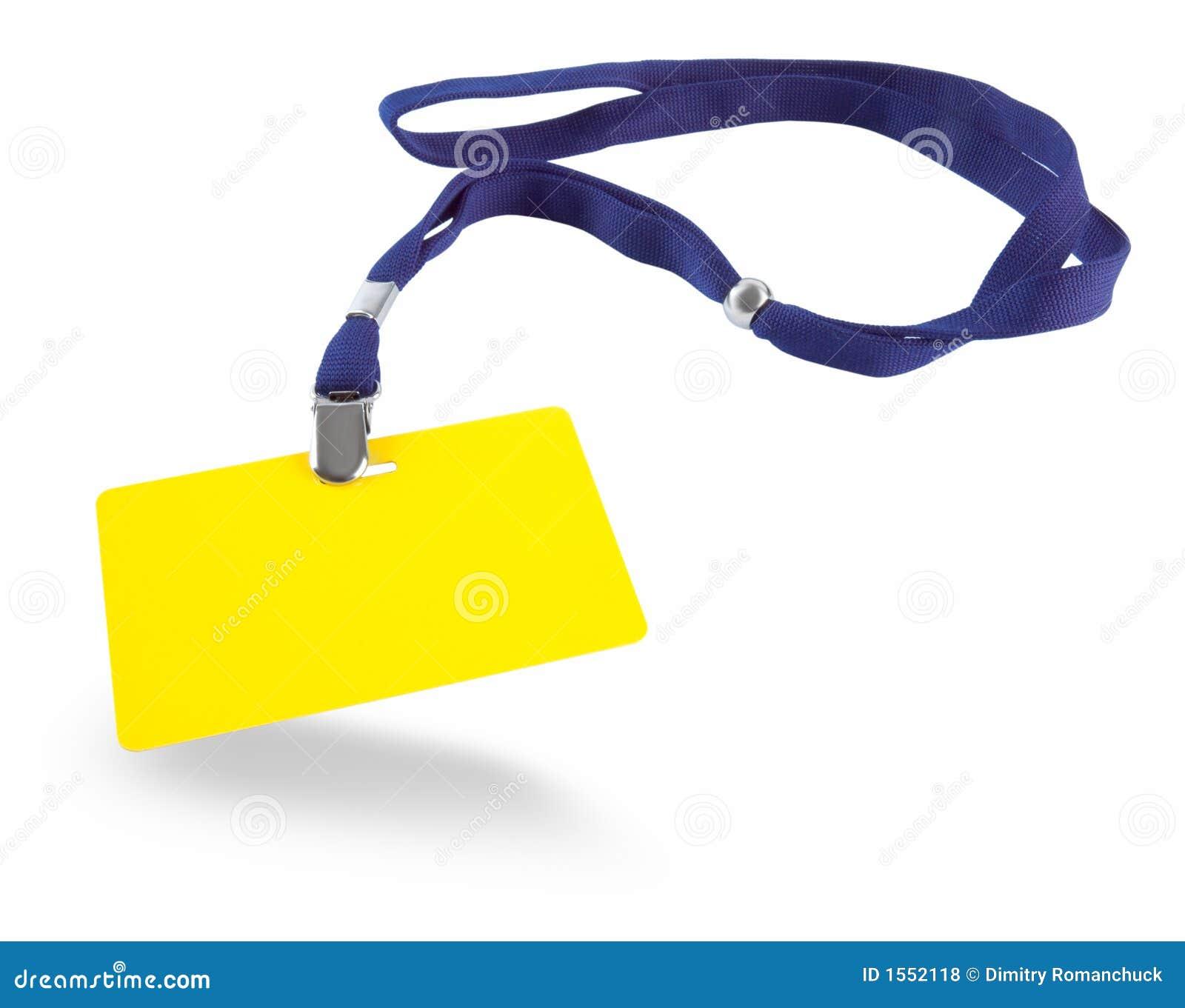 Blå yellow för kortID-lanyard