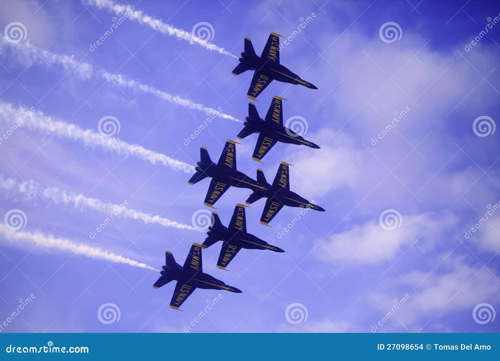 Blåa änglar på Kaneohe Airshow