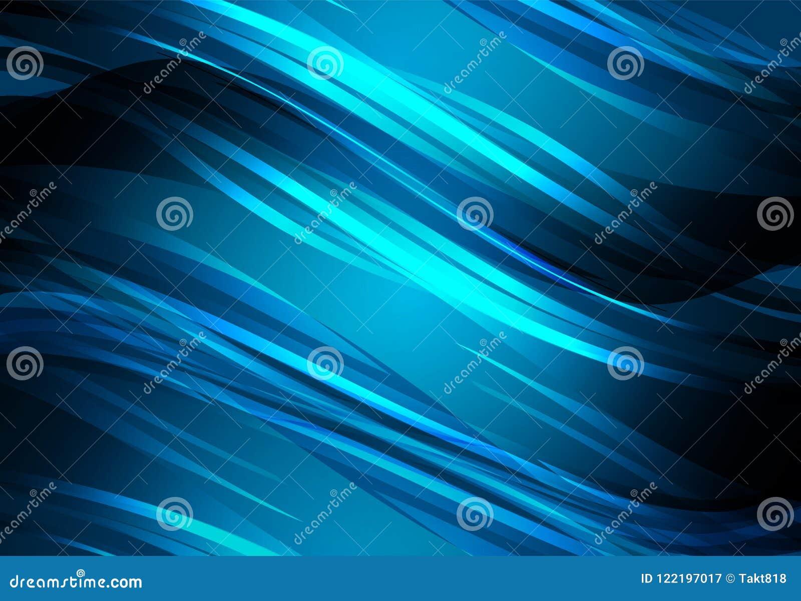 Blåa abstrakt begrepplinjer och glödande bakgrund för kurva