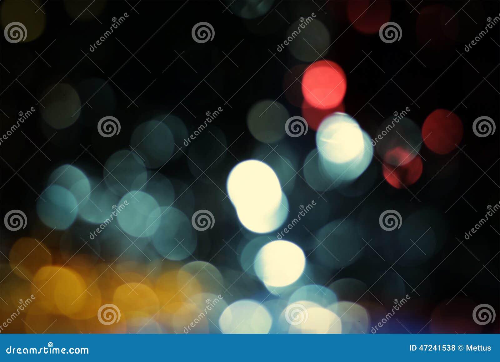 Blåa bakgrunder för bokehabstrakt begreppljus