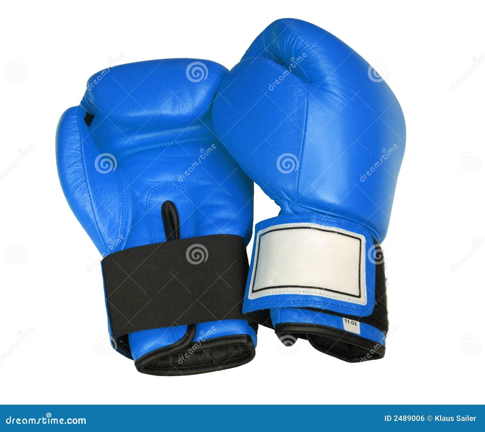 Blåa boxninghandskar