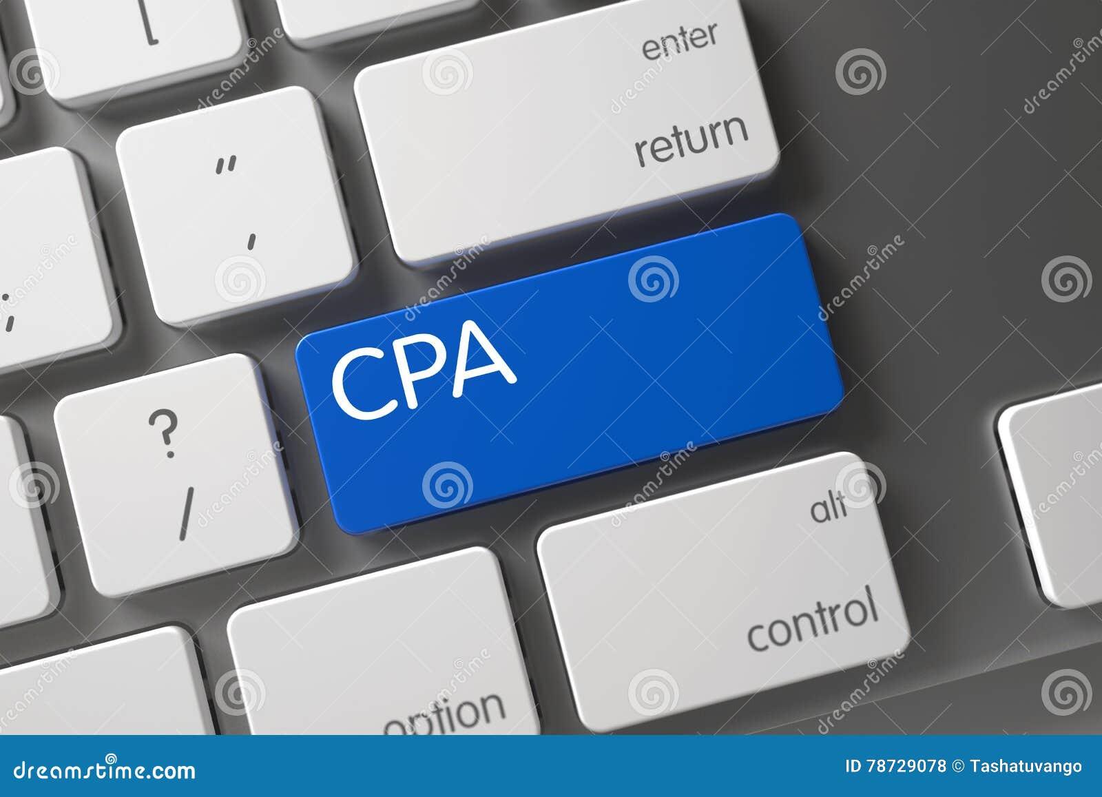 Blåa CPA Keypad på tangentbordet 3d