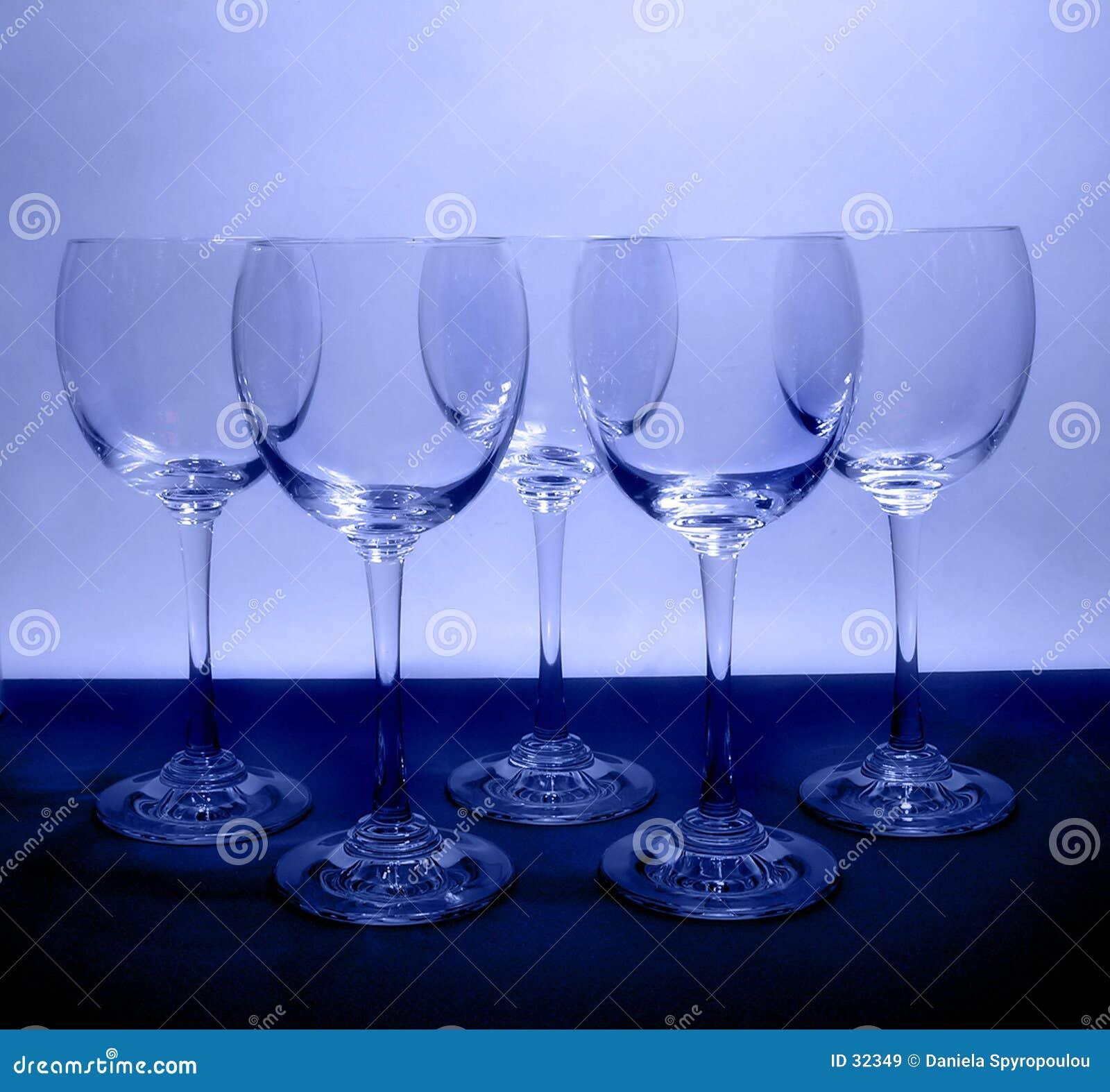 Blåa exponeringsglas