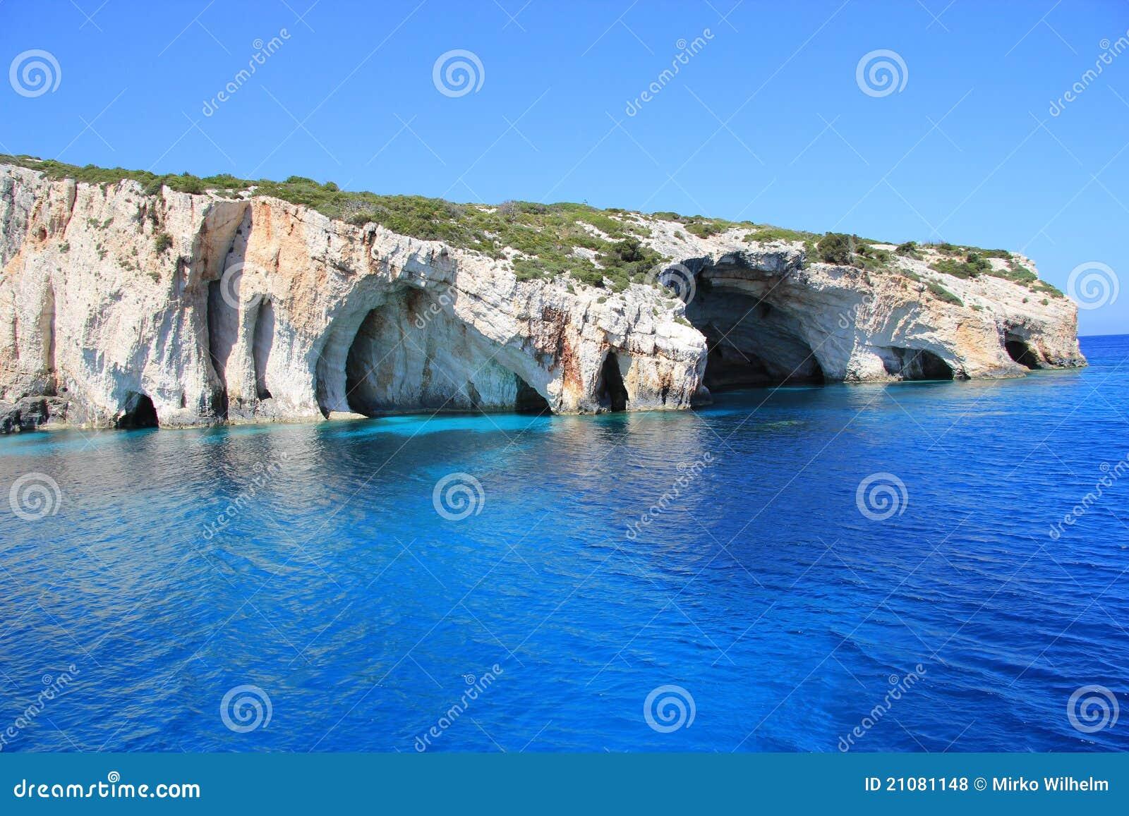 Blåa grottor zakynthos
