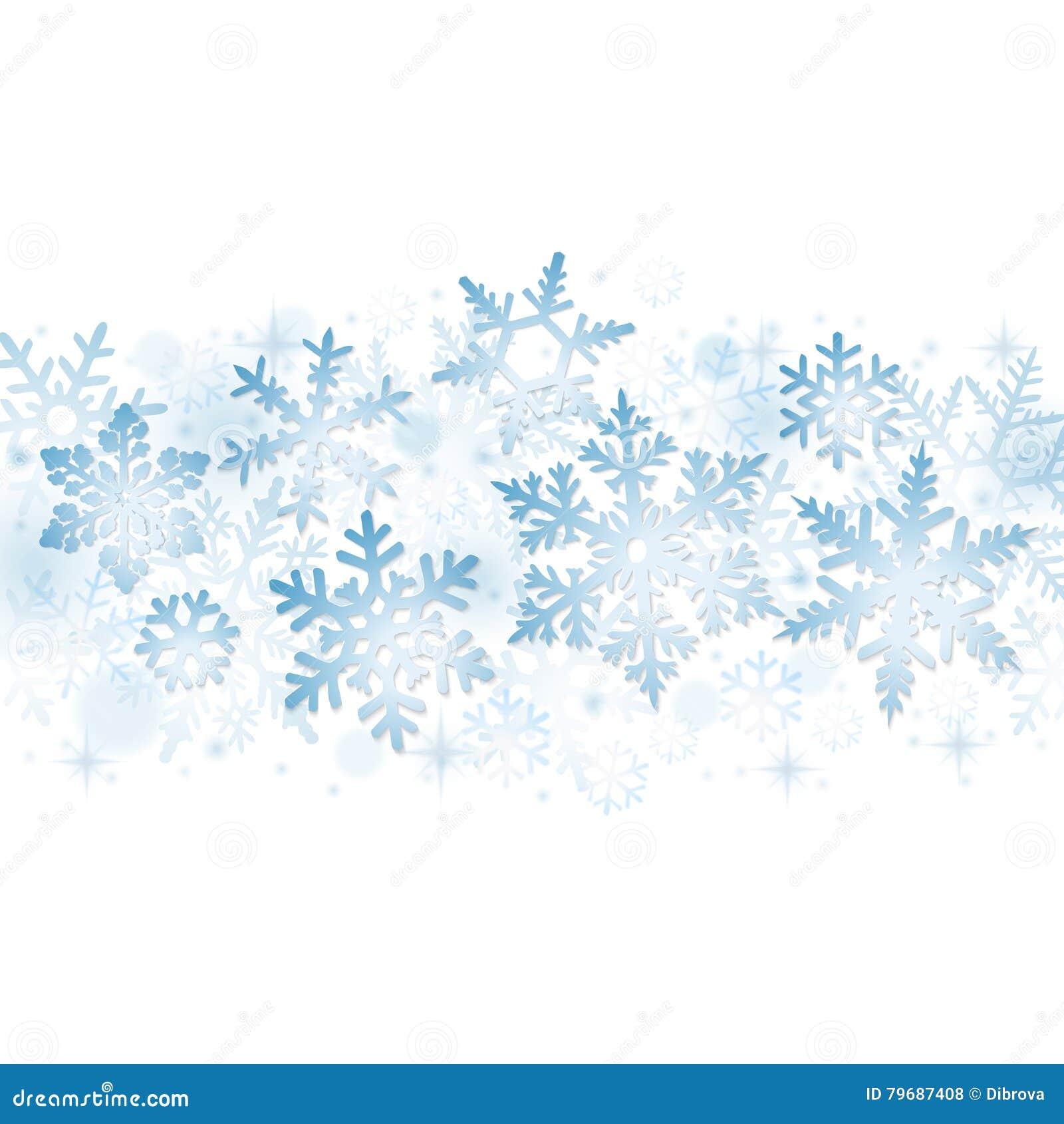 Blåa julsnowflakes