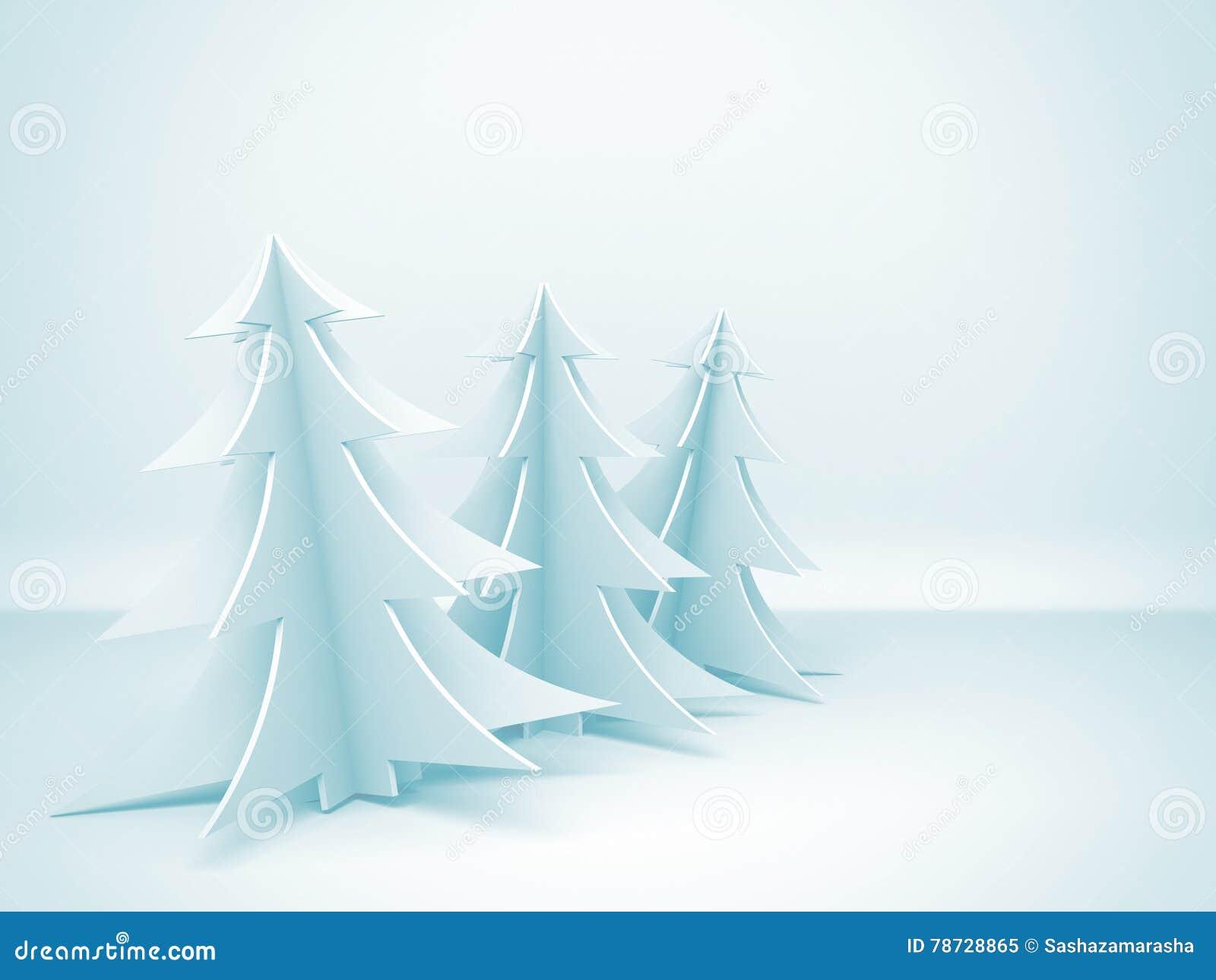 Blåa jultrees för bakgrund vektor för illustration för ferie för abstrakt bakgrundskort färgrik