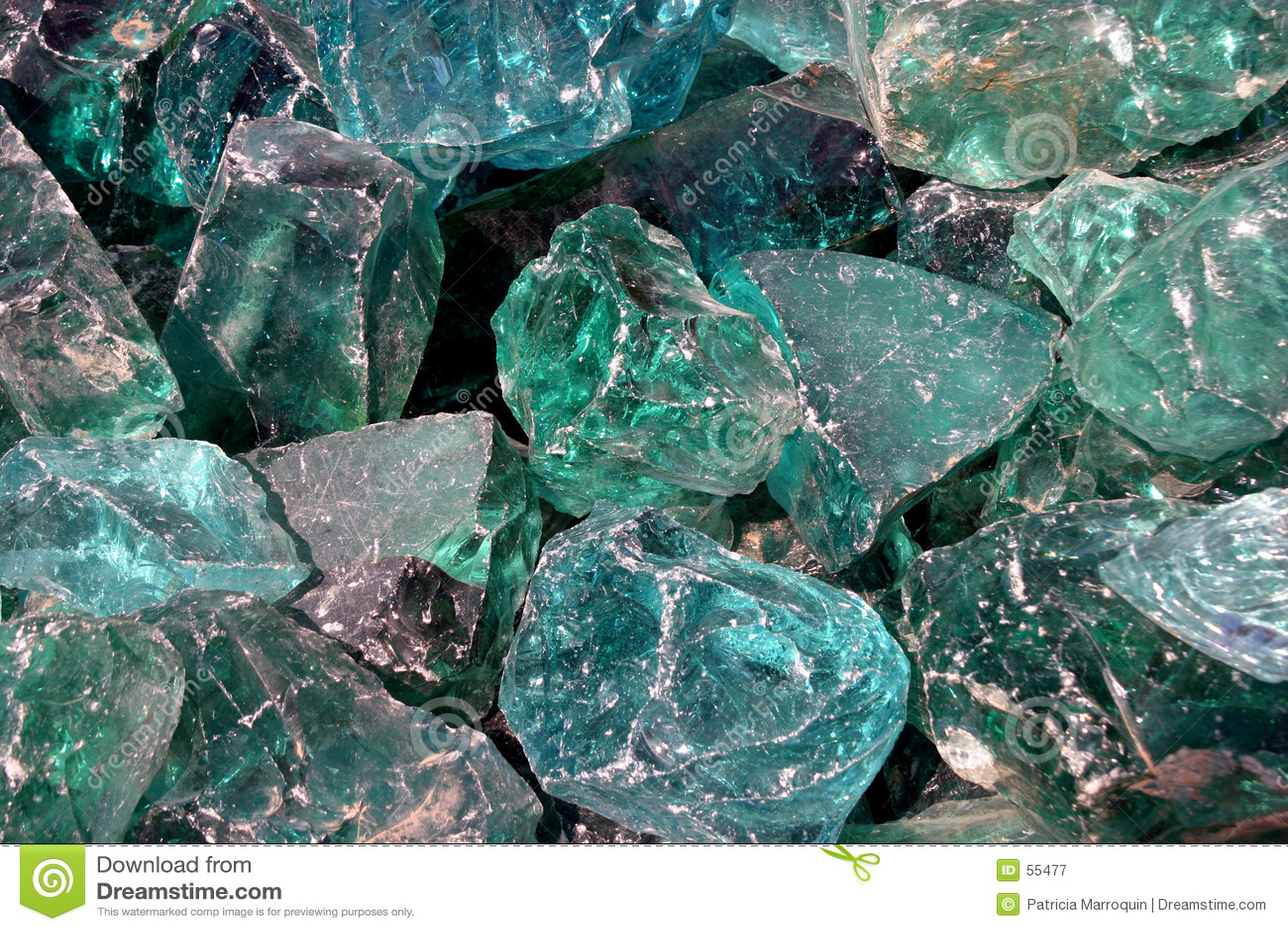 Blåa kristaller