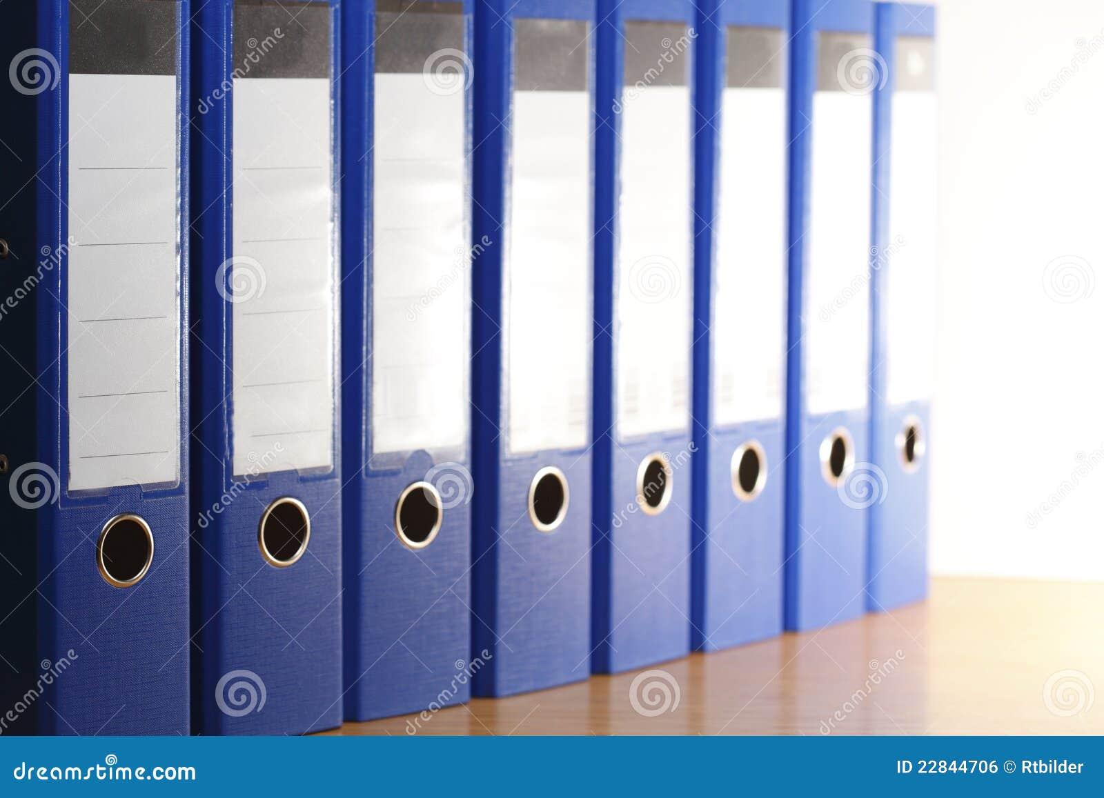 Blåa mappmappar
