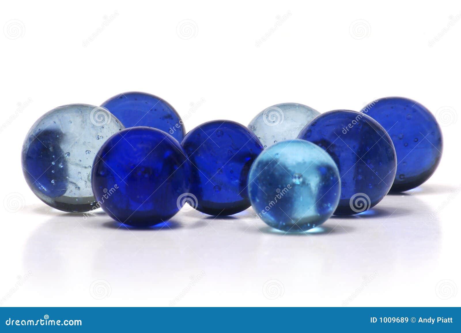 Blåa marmorar