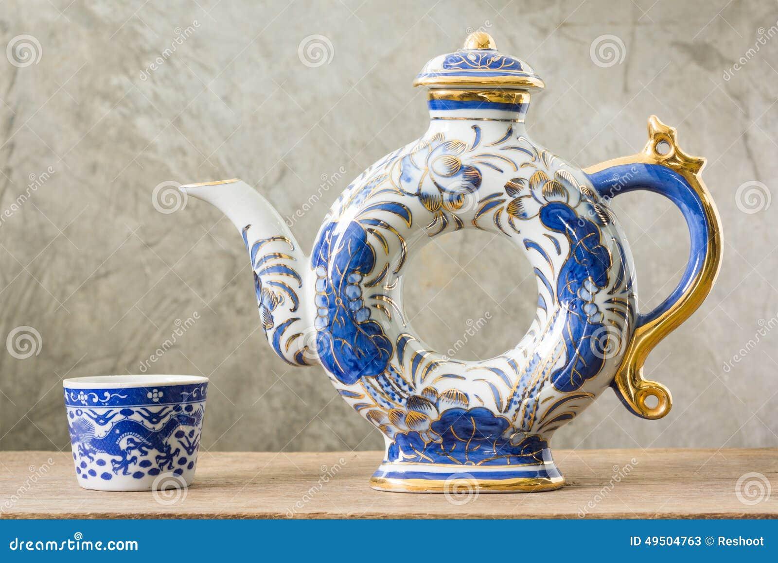 Blåa och vita ware för kines