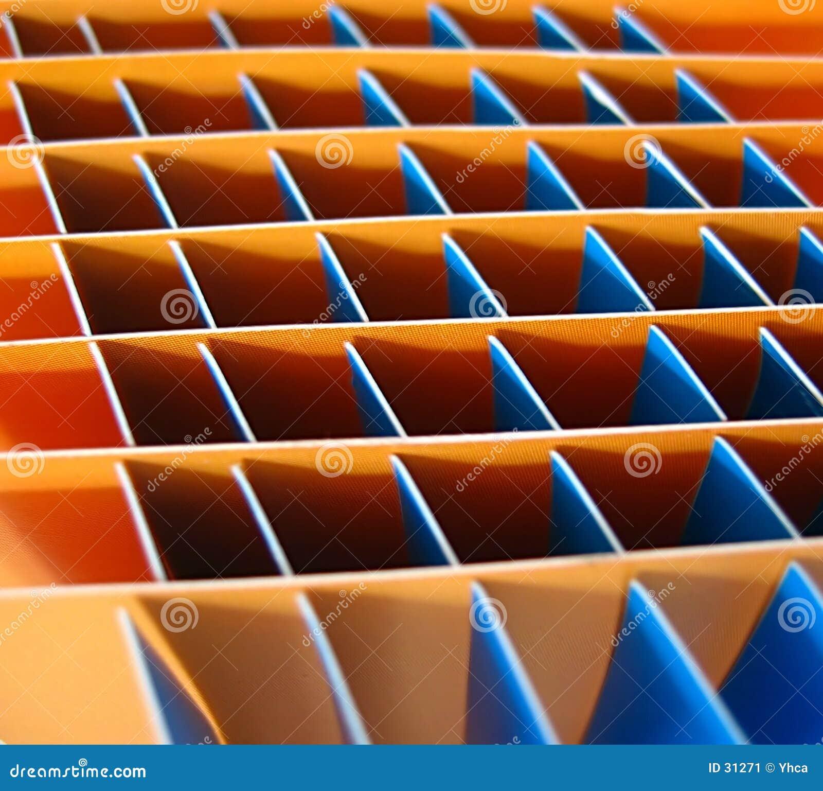 Blåa orange fyrkanter