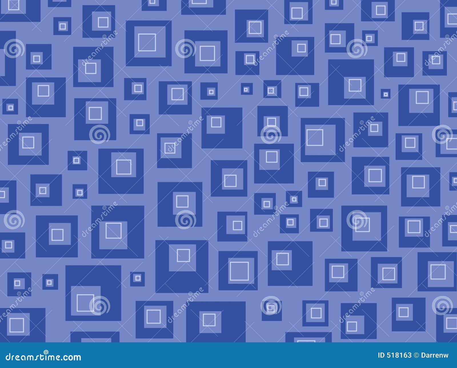 Blåa retro fyrkanter