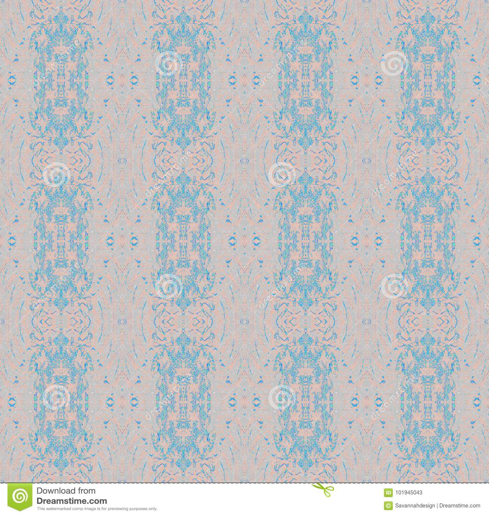Blåa rosa färggrå färger för sömlösa retro prydnader